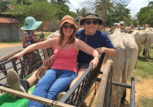 On the ox cart